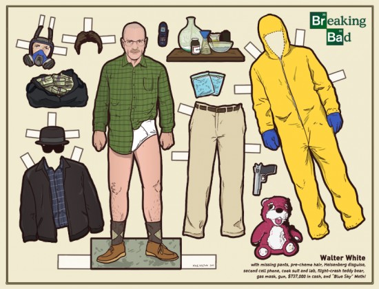 Breaking Bad paper dolls by Kyle Hilton