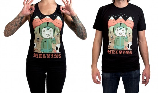 Melvins T-shirts by Tara McPherson