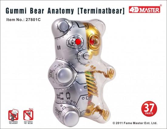 Gummi Terminator Anatomy Bear