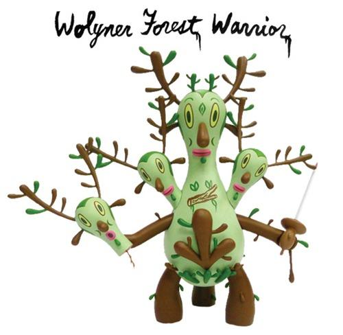 Wolyner Forest Warrior by Gary Baseman