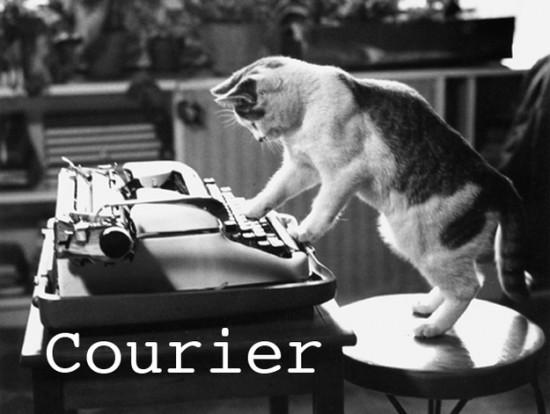 Courier cat font