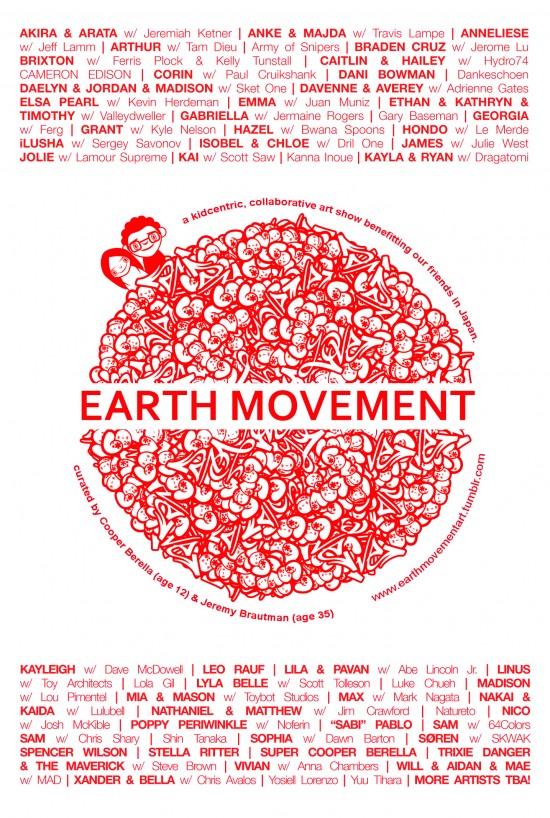 Earth Movement Postcard (back)