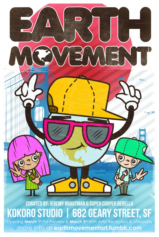 Earth Movement Postcard (front)