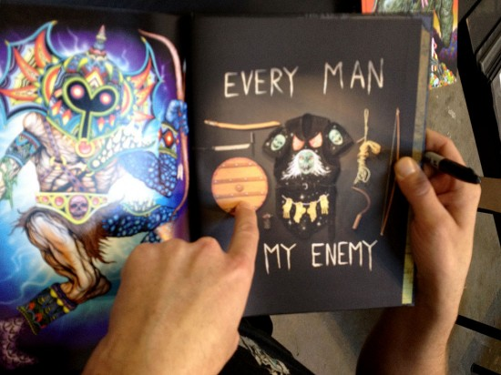 Every Man is My Enemy book signing with Skinner