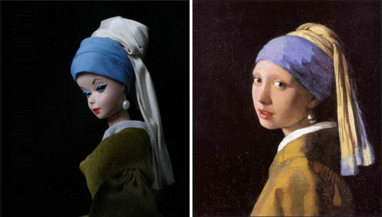 Girl With the Pearl Earring by Vermeer; recreated by Jocelyne Grivaud