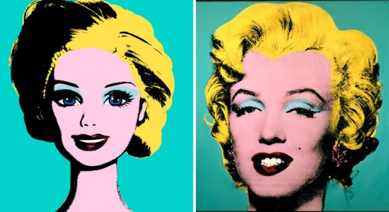 Barbie Art: Barbie as Marilyn Monroe by Andy Warhol