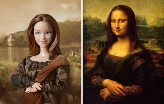 Barbie Art: Barbie as the Mona Lisa