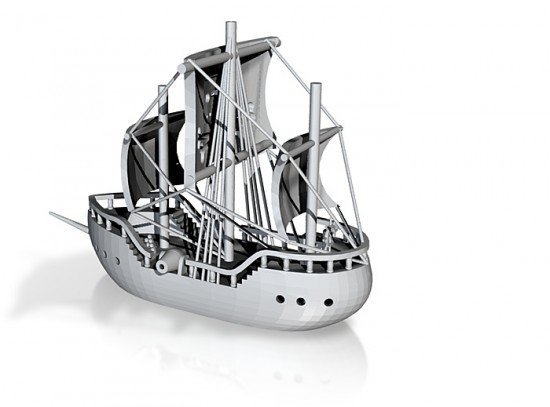 3D rendering of the Pirate Bay ship by Todd Blatt