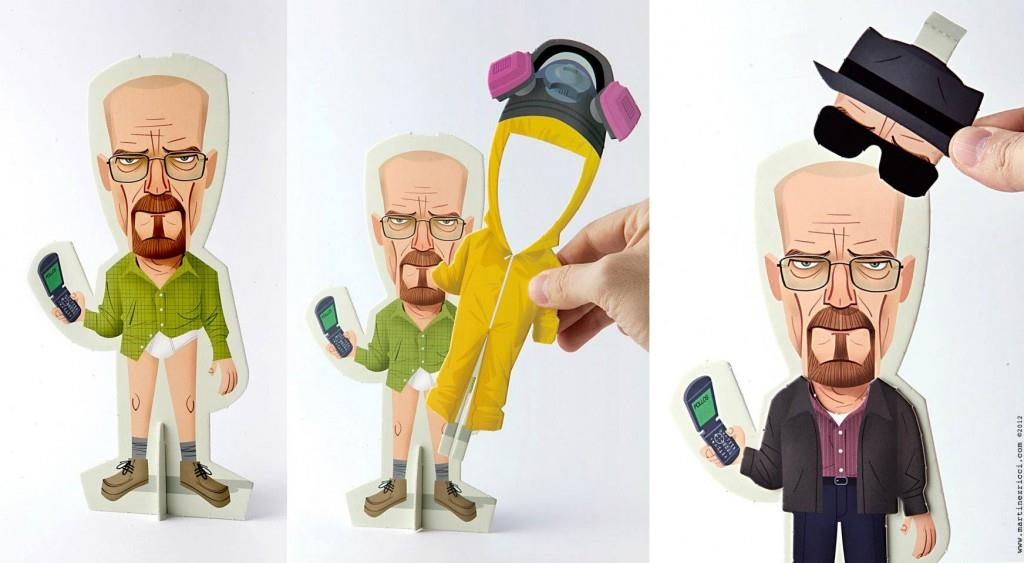Breaking Bad paper dolls by Andrés Martínez Ricci