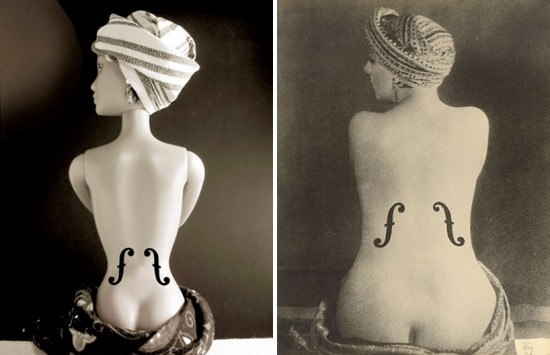 Le Violon D'ingres' by Man Ray; recreated by Jocelyne Grivaud