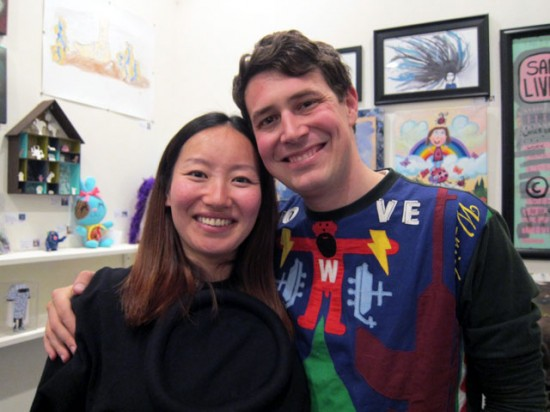 Keiko and Ray, owners of Kokoro Studio, wearers of crazy-cool sweaters and soon-to-be parents!