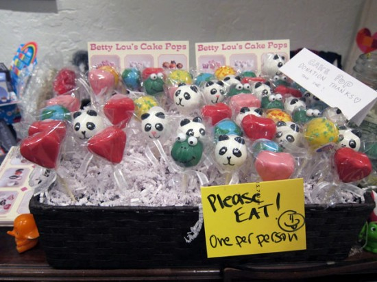 The addictive nature of Betty Lou's Cake Pops makes us need to impose a limit of one per person...
