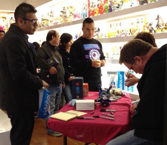 64Colors signing at Kidrobot