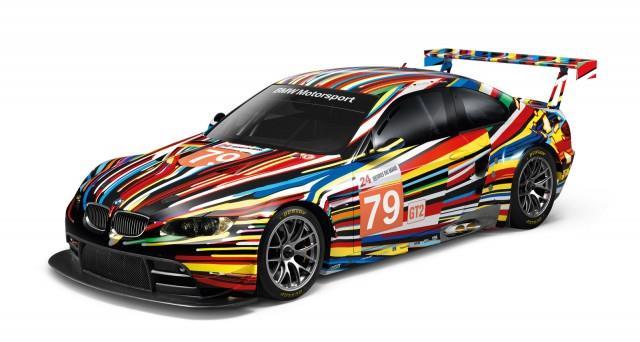 BMW x Jeff Koons scale model art car