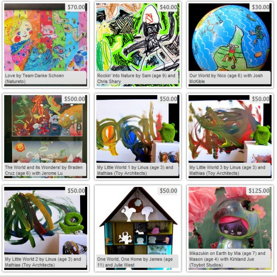 Mixed Media Artwork by Kids and their Families/Friends for EARTH MOVEMENT