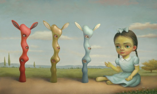 Mark Ryden's Red, Gold and Blue vinyl YHWH