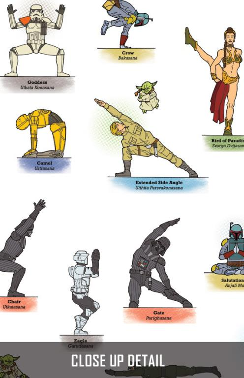 Star Wars Yoga poses © Rob Osborne