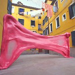Giant Bubble Gum in Venice, 1999 by Simone Decker