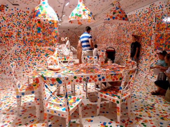Yayoi Kusama's Obliteration Room