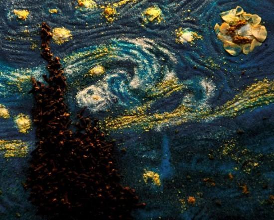 "Food Art Kelly McCollam After: Van Gogh's ""Starry, Starry Night"""