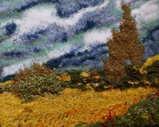 "Kelly McCollam (After: Van Gogh's ""Wheatfield and Cypress Trees"")"