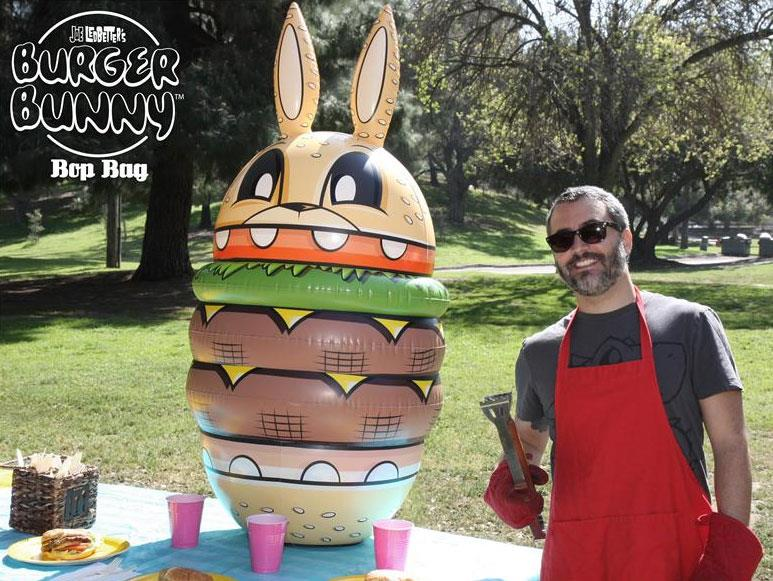 Inflatable Burgerbunny by Joe Ledbetter