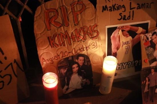 Kim Kardashian vigil