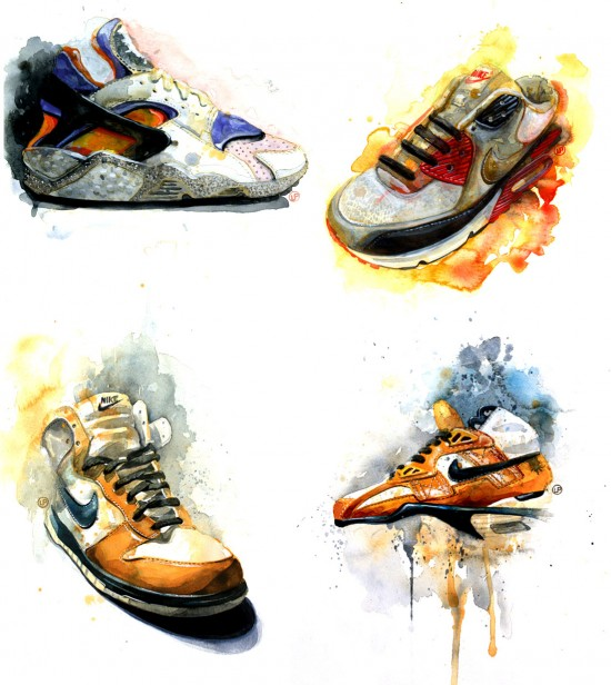 Sneaker Art Paintings by Lou Pimentel