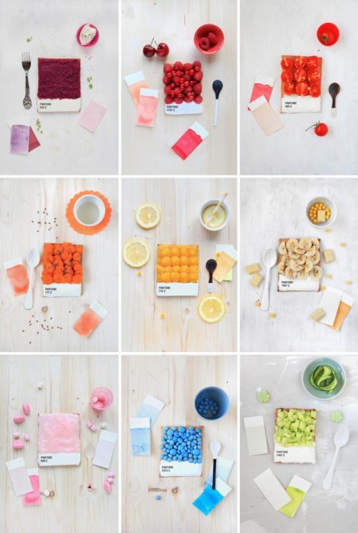 Pantone Tarts by Emilie de Griottes
