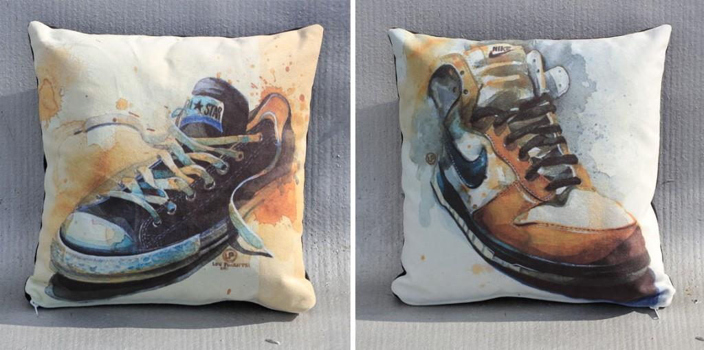 Sneaker Pillows by Lou Pimentel