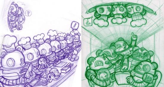 Podgonauts sketches