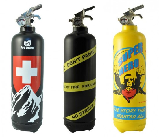 Designer fire extinguishers by Fire Design