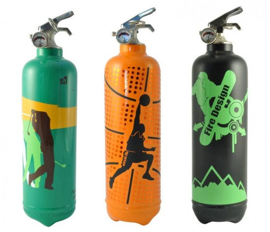 Sports fire extinguishers by Fire Design