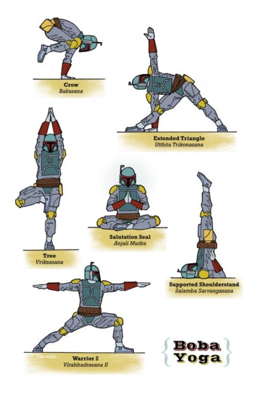 Star Wars Yoga © Rob Osborne