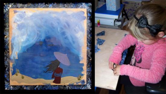 The Soft Sea by Sophia (age 4) with Dawn Barton