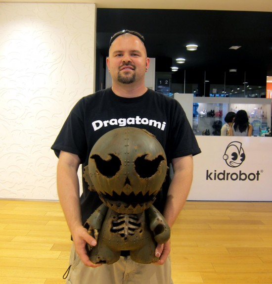 Dril One and custom toys at Ford x Kidrobot's GoFurther