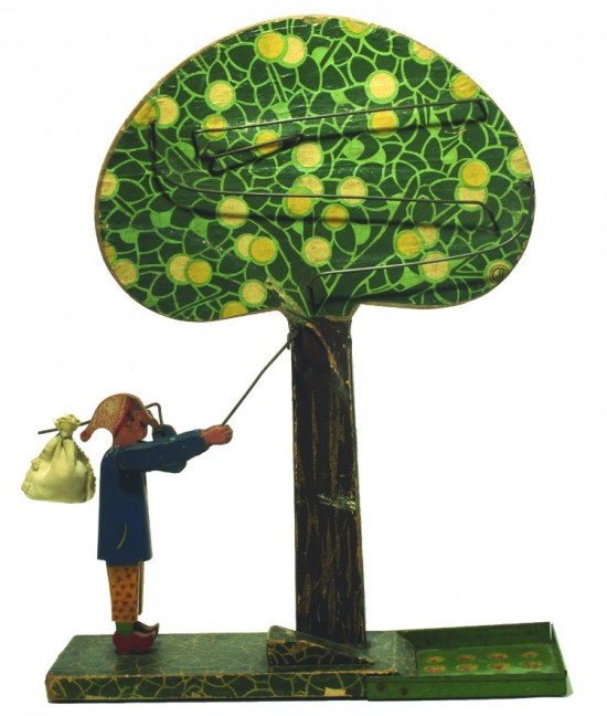 Collecting Apples toy art from 1930