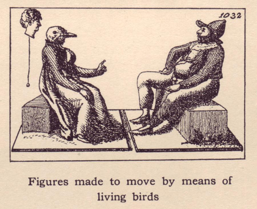 Figures Made to Move By Means of Living Birds