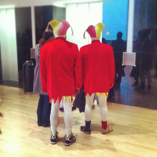 Just a couple of jokers (jesters, really) at @SFMOMA.