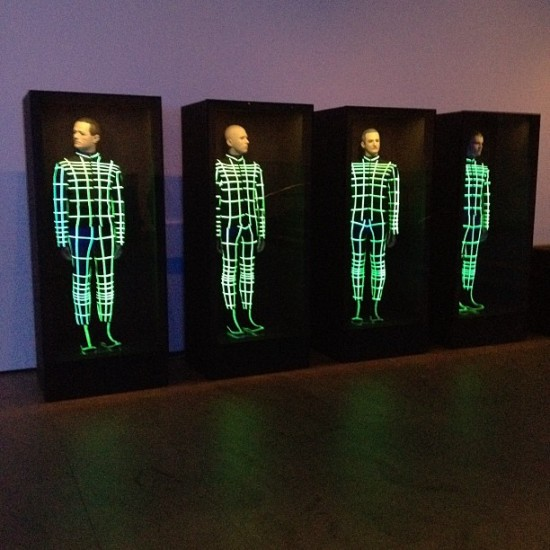 A great shot of Kraftwerk performing one of their sold out show at MOMA, taken by @margaretnyc