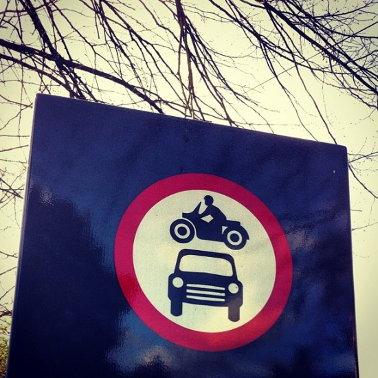 "I try to give everyone a chance, but @mynameisdelme gets another spot for this sign finding: ""Stunt rider warning. Cars parked at owners risk. #Wheeeeee"""