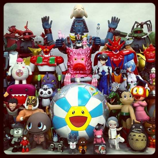 Once again, @toykio get top photo billing with his never-ceases-to-be-amazing toy collection.