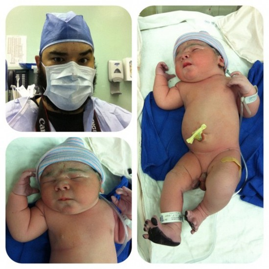 "Congratulations Papa @loupimentel! ""Meet my son Andrew Parker Pimentel. Born at 1:40, weighing 11.8 pounds!!!"""