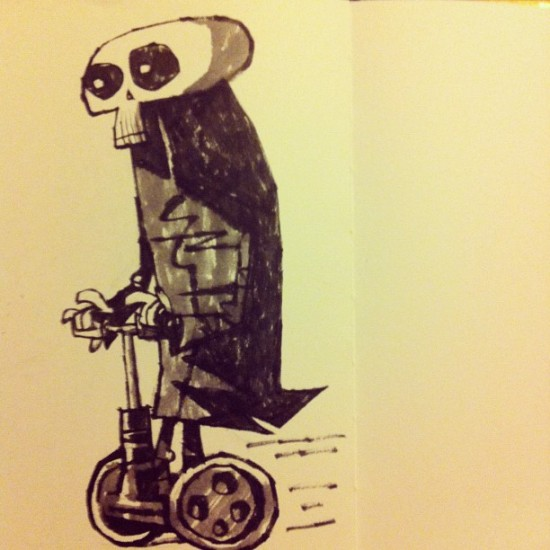 """Death Rides a Segway"" by @jontofski in the UK"