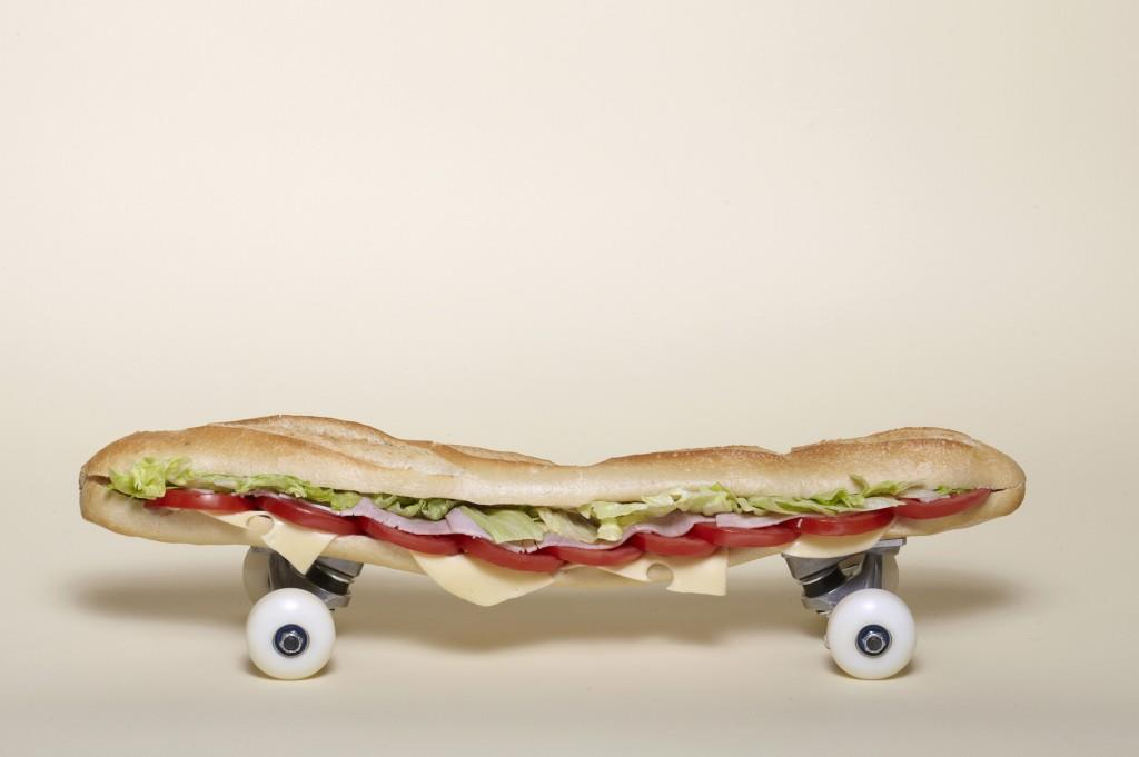 Skateboards made of everyday objects IWTS by Arthur King