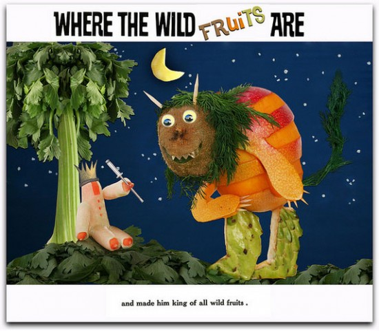 Where the Wild Things Are Fruit book art photo by Vanessa Dualib