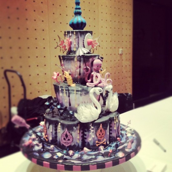 Camille Rose Garcia cake by Dante Nuno