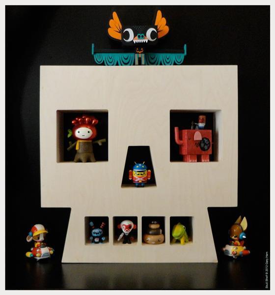Gary Ham custom Skull shelf