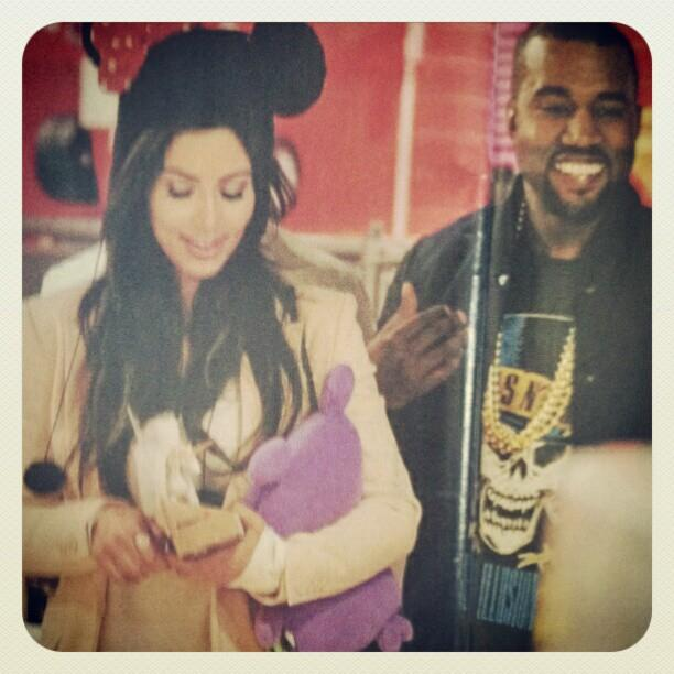 Kim Kardashian, Kanye West and an Uglydoll