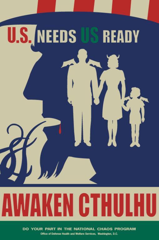 Awaken Cthulhu by Frank Kozik